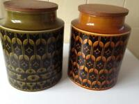 Two handy storage jars ideal for pasta or flour