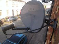 Sky sat dish with quad LNB