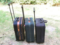 THREE SMALL CABIN SUITCASES - USED - COLLECT FROM RADLETT HERTFORDSHIRE