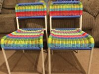 2 x children's chairs for sale £5 each