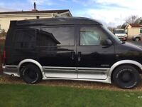 Chevy Astro 4.2 day van ,automatic,petrol with 4 captain leather chairs.