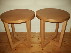 Two side tables coffee tables occasional tables