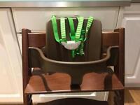 Stokke Tripp Trapp chair, Baby Set, harness
