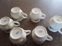 Vintagr china mugs x6