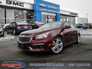 2015 Chevrolet Cruze LTZ  - Certified - Navigation -  Sunroof -