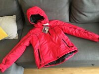 Ski jacket trousers hat and gloves