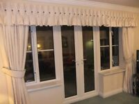 Cream Full Length Curtains with matching pelmet
