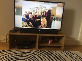 Ikea Besta TV Bench 120cm. Oak effect finish. Excellent condition