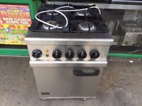 CATERING COMMERCIAL OUT DOOR LPG GAS 4 BURNER COOKER UNDER ELECTRIC OVEN FAST FOOD TAKE AWAY SHOP