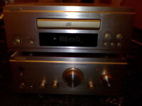 DENON upa f88 amp, cd player and matching speakers, with remote control and phono input