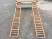 Heavy duty steel 8ft trailer loading ramps
