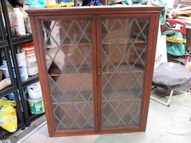 Antique Leaded Glass Book Case/Display Cabinet