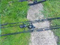 Carp rod and bait runner reel X2, used for sale  Wickford, Essex