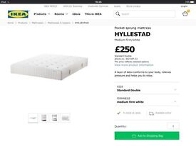 Double Bed Frame Brusali and Mattress Hyllestad by Ikea. £150 ono