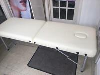 Portable massage table ideal for beauty and massage therapists