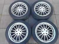 "VAUXHALL, SAAB 18"" ALLOY WHEELS"