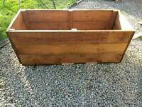 Large hardwood planter Free local delivery