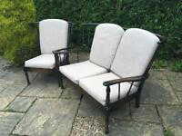 Vintage ERCOL sofa and chair armchair CONSERVATORY SUITE retro Mid Century Delivery available
