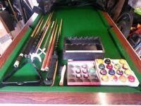 7x4 Slate Bed Ex Pub Pool Table