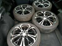 17 INCH ALLOY WHEELS WITH TYRES VW GOLF BORA AUDI SEAT SKODA POLO R32