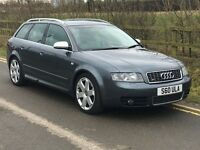2003 AUDI A4 S4 4.2 V8 QUATTRO ESTATE GREY - RECARO HEATED SEATS - BOSE - SATNAV