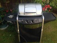 2 Burner Propane Gas BBQ/barbecue with Side Burner