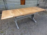 Lovely 7ft Ercol Extending Dining Table Painted Farrow & Ball - Osmo Polyx Oil