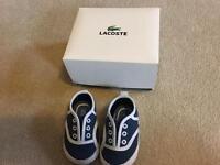 Lacoste Size 1 pram shoes