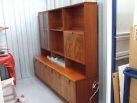 Meredew Display Cabinet Polished Mahogany