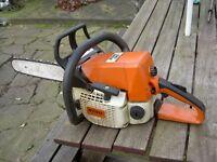 """Stihl 025 14"""" Petrol Chain Saw."""