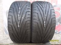 AC94. 2X 245/35/20 95W ZR 2X7MM MAXXIS VICTRA MA-21 - USED TYRES