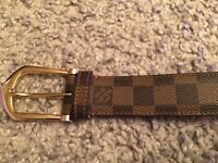 GENUINE Louis Vuitton Damier ELLIPSE Belt