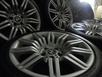 "19"" GENUINE SPIDER 172M SPORT BMW Alloys Wheels STAGGERED 3 5 7 Series T5 E60 Vw"
