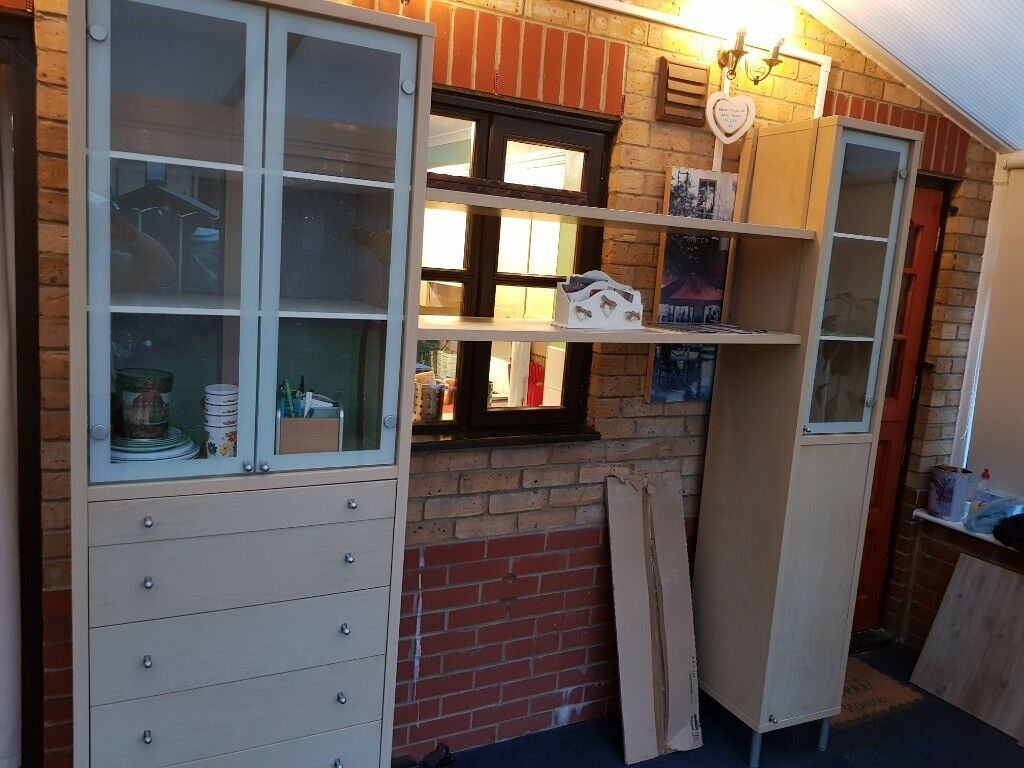 Dining Room Display Cabinets And Bridging Shelf
