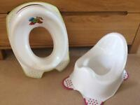 Potty and toilet training seat