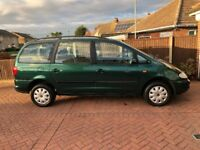 SEAT ALHAMBRA 1.9 TDI DIESEL 7 SEATER, NEW CAMBELT. LONG MOT TAXED ONLINE.