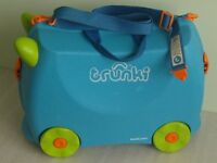 Blue Trunki Travel Suitcase with key in clean condition used