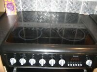HOTPOINT EW74 BLACK COOKER