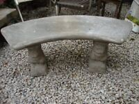 Curved,Garden Bench. Approx 44 Inches Long.