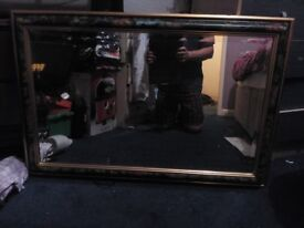 Large picture framed mirror