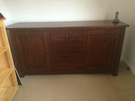 Mahogany coloured dresser / sideboard/ cupboard