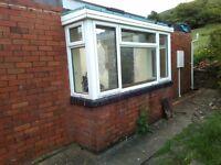 Double-glazed uPVC bay window.