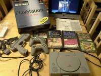 Boxed Ps1 + Nam g con 45 +7 games