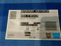 1xDara O'Briain ticket for Waterfront Hall Belfast 22/9/18