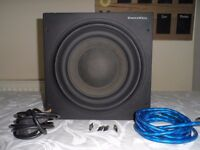 B&W Bowers & Wilkins ASW610XP Active Subwoofer - 500 Watts RMS - Fully Working & Sounds Awesome