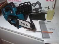 new makita 18v LXT chainsaw duc122z - Made in Japan. Bare tool duc122 buc122 buc122z