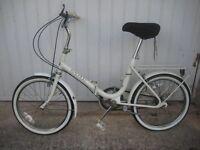 Folding Bike (Cream Raleigh Bycycle)