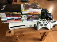 Xbox 360, 5 Controllers and 20 Games