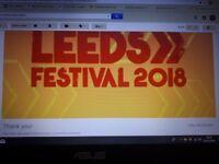 1 Leeds Festival Ticket Weekend Camping (SOLD)