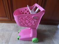 Little Tikes pretend play pink shopping trolley Collection from DY5 area £15.00